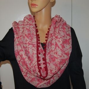 LOFT Infinity Scarf with tassels